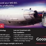 Ein Hushkit für die MD-80, man beachte u.a.den sichtbaren Mixer am Triebwerksaustritt/Courtesy: Goodrich