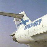 Das stolze Leitwerk einer MD-87 von Finnair/Courtesy: Finnair