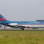 Man beachte die aktivierte Schubumkehr dieser DC-9./Courtesy: Sandor van Maaren