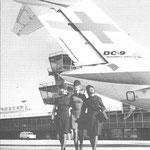 Als Vergleich das Leitwerk einer DC-9-10 der Finnair/Courtesy: Finnair