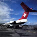 Fokker 100 der Swissair/Courtesy: Swissair