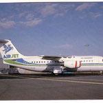 AirJet BAe 146-200/Postkarte