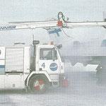 Eine MD-87 der Finnair wird behandelt/Courtesy: Finnair