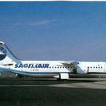 Sagittair BAe 146-300/Postkarte