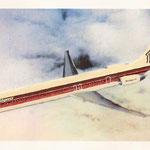 Wunderbare manuell erarbeitete MD-80 im Farbkleid der PeoplExpress/Courtesy: John Evanich