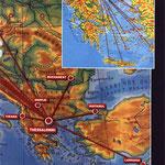 Europanetz von Olympic Aviation/Courtesy: Olympic Aviation