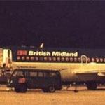DC-9 von British Midland/Postkarte