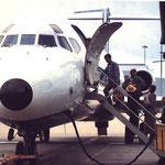 Die Tür passt sich der Form des Rumpfes charakteristisch an/Courtesy: Airtours International