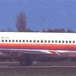 """Die MD-83 """"D-ALLD""""/Postkarte"""