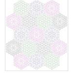 Das ist Layout 2, es gefällt mir am besten. Die Kantenlänge von einem Hexagon ist 4 cm.