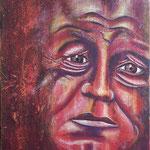 Wiily Brandt; Mischtechnik; Acryl, Transfer, Kreide; 40 x 50 cm