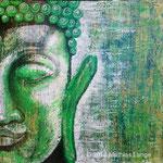 Buddha; Mischtechnik, Spachtel, Acryl, 70 x 70 cm