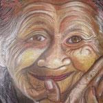 Dadung Lingsir Ubud; Mischtechnik, Acryl und Kreide; 40 x 50 cm