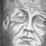 Willy Brandt; Graphitzeichnung; 30 x 40 cm