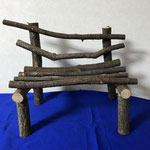 栗の木・枝のベンチ 高さ31×横39.5×幅21.5(㎝)
