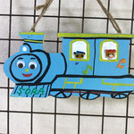 プレート(機関車ブルー)