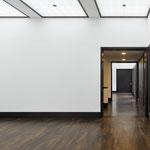 Stabparkett Räuchereiche Kunstgalerie Bonn Schröder massiv Fußbodenheizung