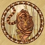 Tiger Intarsie