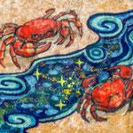 ●「星の河」90X125mm 日本画:紙本着彩(手漉き三椏紙)