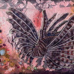 華のかんばせ 150x210mm 日本画:紙本着彩、銀箔(ピンク)、金属泥
