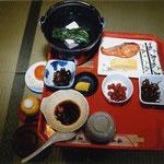 信貴山宿坊での朝食