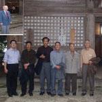 室生寺奥の院に到達した9人の皆さん