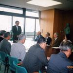 県庁にて。奥田副知事からのご挨拶