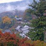 長谷寺。山峡の朝(11月16日)