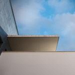 Detalle de voladizo de acceso a la vivienda