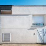 Composición de materiales en fachada