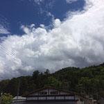 雨予報を青空に守って頂きました