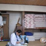 一ノ越小屋にて宿泊 八畳に六人と富士山より快適でした