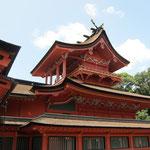 富士宮浅間大社 珍しい2階建て社殿