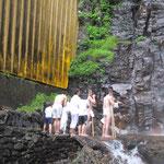 清滝での水行