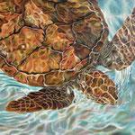 NADANDO EN BLUES. Óleo sobre tela, 100 x 150 cm. Jorge Luna