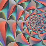 CAÍDA LIBRE. Óleo sobre tela. 50 x 70 cm. Jorge Luna.