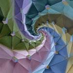 RAÍZ CÚBICA. Óleo sobre tela. 120 x 120 cm. Jorge Luna.