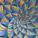 BIEN DE OJO. Óleo sobre tela. 150 x 100 cm. Jorge Luna.