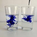 Wasser, Tinte, kleine Forscher