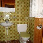 Toilette auf der Galerie