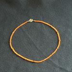 Carneol mit silbervergoldeten Zwischenteilen und Verschluss