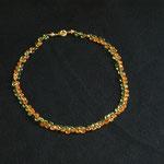 Peridot Carneol facettierte Tropfen mit silbervergoldetem Verschluss