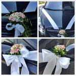 Autodekoration für Hochzeitsgäste