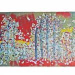 Lorsque le mode se lève - Collage et technique mixte - 2015 - 120x80cm