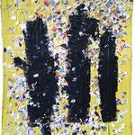 Trinité jaune - Collage et technique mixte - 2015 - 135;5x108cm