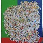 La chambre - Collage et technique mixte - 2015 - 90x123.5cm