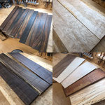 自慢の木材ストックの中からご自身でご選定頂けます。ブラジリアンローズウッドのストックは国内有数です。
