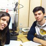Ани и Илиян в радио Ватикана