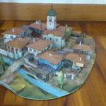 Възрожденско село, изработено от Янис Атанасов - 9 г. и неговите родители