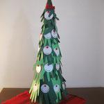 Това е елхичката направена от отпечатъците на ръчичките на нашите деца-подарък за Н.Пр.Проф.Топалов